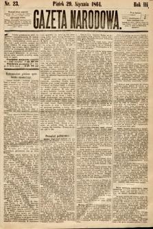 Gazeta Narodowa. 1864, nr23