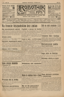 Robotnik : centralny organ P.P.S. R.41 [i.e.43], nr 4 (4 stycznia 1937) = nr 6885