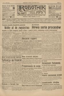 Robotnik : centralny organ P.P.S. R.41 [i.e.43], nr 24 (23 stycznia 1937) = nr 6905