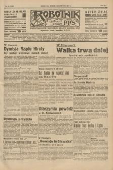 Robotnik : centralny organ P.P.S. R.41 [i.e.43], nr 25 (24 stycznia 1937) = nr 6906