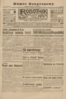 Robotnik : centralny organ P.P.S. R.41 [i.e.43], nr 34 (2 lutego 1937) = nr 6915 (numer kongresowy)