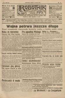 Robotnik : centralny organ P.P.S. R.41 [i.e.43], nr 45 (12 lutego 1937) = nr 6926
