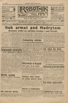 Robotnik : centralny organ P.P.S. R.41 [i.e.43], nr 73 (10 marca 1937) = nr 6954