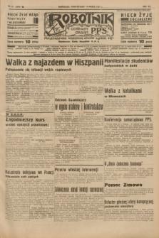 Robotnik : centralny organ P.P.S. R.41 [i.e.43], nr 78 (15 marca 1937) = nr 6959