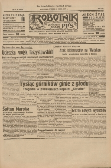 Robotnik : centralny organ P.P.S. R.41 [i.e.43], nr 87 (23 marca 1937) = nr 6968 (po konfiskacie nakład drugi)