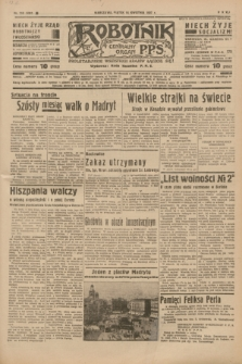 Robotnik : centralny organ P.P.S. R.41 [i.e.43], nr 110 (16 kwietnia 1937) = nr 6991