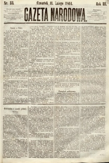 Gazeta Narodowa. 1864, nr33