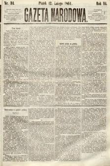 Gazeta Narodowa. 1864, nr34