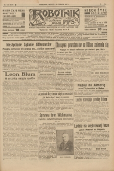 Robotnik : centralny organ P.P.S. R.41 [i.e.43], nr 165 (6 czerwca 1937) = nr 7047