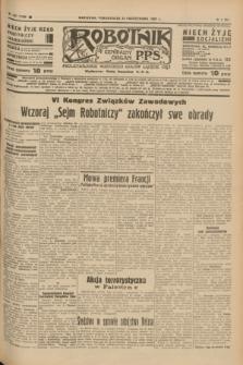 Robotnik : centralny organ P.P.S. R.41 [i.e.43], nr 321 (25 października 1937) = nr 7203