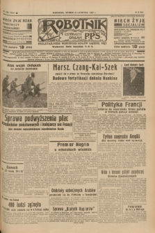 Robotnik : centralny organ P.P.S. R.41 [i.e.43], nr 349 (23 listopada 1937) = nr 7231