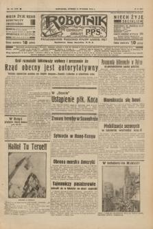 Robotnik : centralny organ P.P.S. R.42 [i.e.44], nr 10 (11 stycznia 1938) = nr 7278