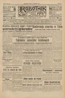Robotnik : centralny organ P.P.S. R.42 [i.e.44], nr 11 (12 stycznia 1938) = nr 7279