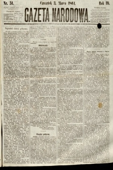 Gazeta Narodowa. 1864, nr51