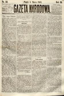Gazeta Narodowa. 1864, nr52