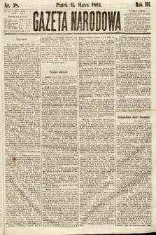 Gazeta Narodowa. 1864, nr58