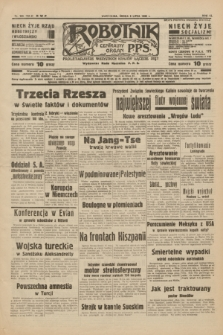 Robotnik : centralny organ P.P.S. R.40 [i.e.44], nr 185 (6 lipca 1938) = nr 7454