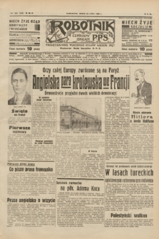 Robotnik : centralny organ P.P.S. R.40 [i.e.44], nr 199 (20 lipca 1938) = nr 7468
