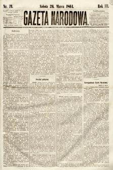 Gazeta Narodowa. 1864, nr71