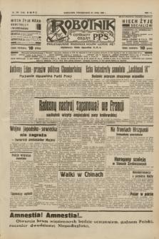 Robotnik : centralny organ P.P.S. R.40 [i.e.44], nr 204 (25 lipca 1938) = nr 7473
