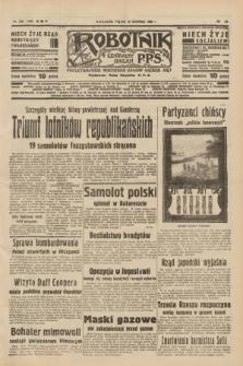 Robotnik : centralny organ P.P.S. R.40 [i.e.44], nr 230 (19 sierpnia 1938) = nr 7498