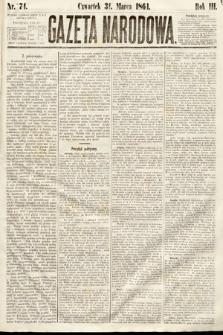 Gazeta Narodowa. 1864, nr74