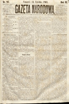 Gazeta Narodowa. 1864, nr85