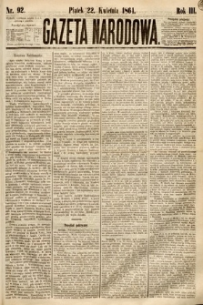 Gazeta Narodowa. 1864, nr92