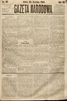 Gazeta Narodowa. 1864, nr93