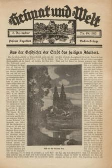 Heimat und Welt : Posener Tageblatt Wochen-Beilage. 1932, nr 49 (3 Dezember)