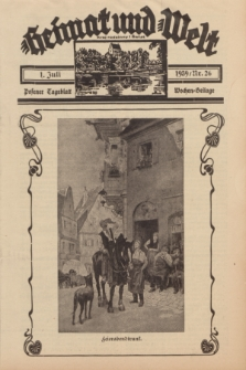 Heimat und Welt = Kraj Rodzinny i Świat : Posener Tageblatt Wochen-Beilage. 1939, Nr. 26 (1 Juli)