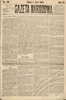 Gazeta Narodowa. 1864, nr148