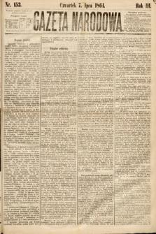 Gazeta Narodowa. 1864, nr153