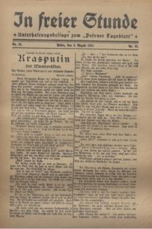 """In Freier Stunde : Unterhaltungsbeilage zum """"Posener Tageblatt"""". 1927, Nr. 34 (3 August)"""