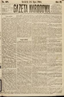 Gazeta Narodowa. 1864, nr168