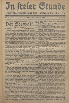"In Freier Stunde : Unterhaltungsbeilage zum ""Posener Tageblatt"". Jg.2, Nr. 3 (4 Januar 1928)"