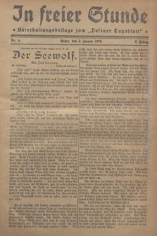"In Freier Stunde : Unterhaltungsbeilage zum ""Posener Tageblatt"". Jg.2, Nr. 4 (5 Januar 1928)"
