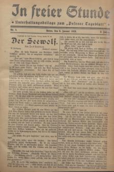 "In Freier Stunde : Unterhaltungsbeilage zum ""Posener Tageblatt"". Jg.2, Nr. 5 (6 Januar 1928)"