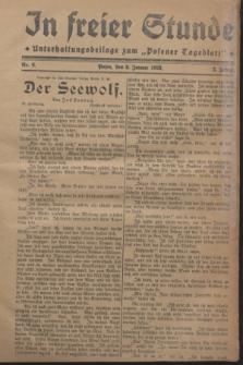 "In Freier Stunde : Unterhaltungsbeilage zum ""Posener Tageblatt"". Jg.2, Nr. 6 (8 Januar 1928)"