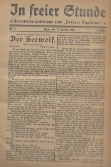 "In Freier Stunde : Unterhaltungsbeilage zum ""Posener Tageblatt"". Jg.2, Nr. 7 (10 Januar 1928)"