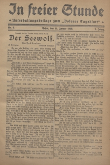 "In Freier Stunde : Unterhaltungsbeilage zum ""Posener Tageblatt"". Jg.2, Nr. 8 (11 Januar 1928)"