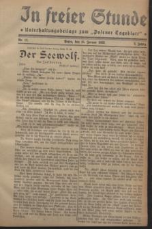 "In Freier Stunde : Unterhaltungsbeilage zum ""Posener Tageblatt"". Jg.2, Nr. 12 (15 Januar 1928)"