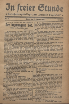 "In Freier Stunde : Unterhaltungsbeilage zum ""Posener Tageblatt"". Jg.2, Nr. 13 (17 Januar 1928)"
