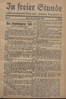 "In Freier Stunde : Unterhaltungsbeilage zum ""Posener Tageblatt"". Jg.2, Nr. 14 (18 Januar 1928)"