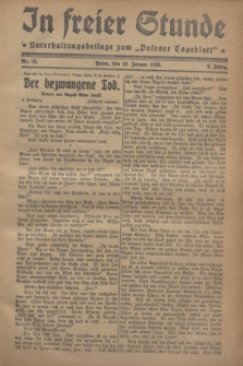 "In Freier Stunde : Unterhaltungsbeilage zum ""Posener Tageblatt"". Jg.2, Nr. 15 (19 Januar 1928)"