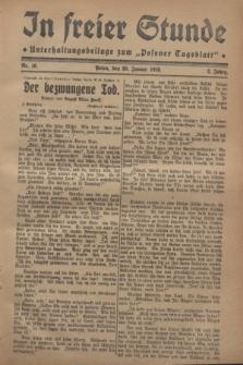 "In Freier Stunde : Unterhaltungsbeilage zum ""Posener Tageblatt"". Jg.2, Nr. 16 (20 Januar 1928)"