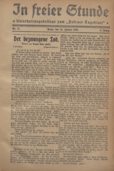 "In Freier Stunde : Unterhaltungsbeilage zum ""Posener Tageblatt"". Jg.2, Nr. 17 (21 Januar 1928)"