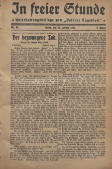 "In Freier Stunde : Unterhaltungsbeilage zum ""Posener Tageblatt"". Jg.2, Nr. 20 (25 Januar 1928)"