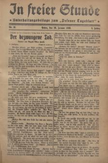 "In Freier Stunde : Unterhaltungsbeilage zum ""Posener Tageblatt"". Jg.2, Nr. 21 (26 Januar 1928)"
