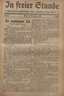 "In Freier Stunde : Unterhaltungsbeilage zum ""Posener Tageblatt"". Jg.2, Nr. 24 (29 Januar 1928)"